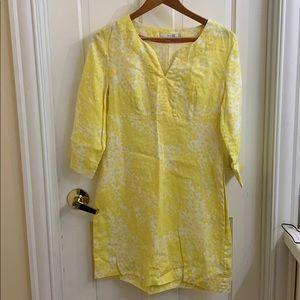 Boden tunic. Cheerful yellow! Linen. 6R